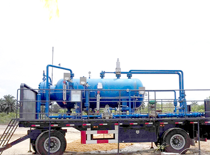 Runcheng Petrochemical Equipment trailer-mounted test separator is widely used